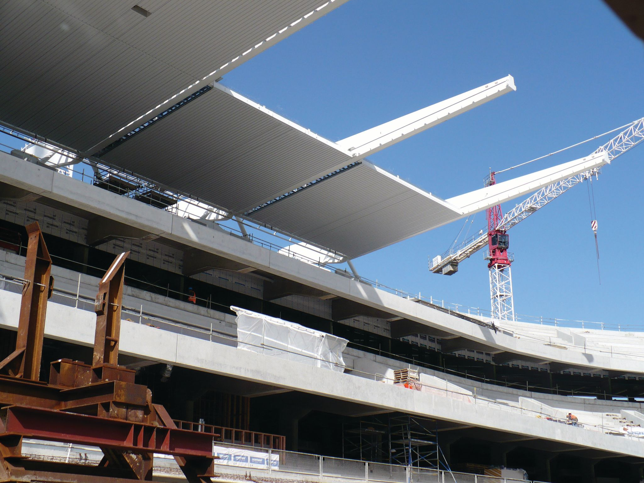 H J Asmuss supplied structural steel for the cover of the South Stand, Eden Park. Constructed for the 2011 Rugby World Cup