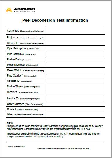 Pel Dec Test Information